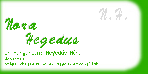 nora hegedus business card